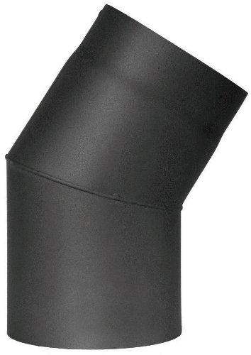 Jeremias Ofenrohr-Bogen 150 mm, 30 Grad, schwarz, FERRO1411150