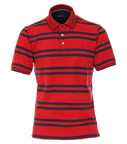 CASAMODA Herren Polo-Shirt gestreift Rot XL