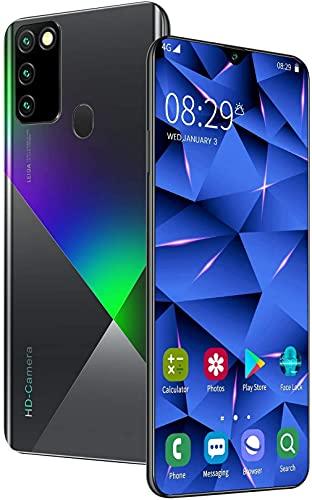 WWJ Celular A90 Smartphone SIM Grátis Android 10.0 Desbloqueado, 6,8 polegadas Waterdrop Tela Cheia 16MP + 32MP 4500mAh Bateria Dual SIM Dual Camera