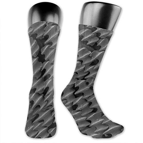 OLGCZM Shark Skin Microscope Men Womens Thin High Ankle Casual Socks Fit Outdoor Hiking Trail