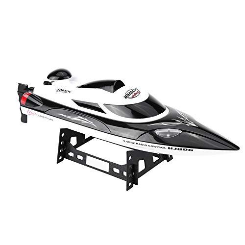 Dilwe RC Speed Boat Spielzeug Geschenk, HJ806 2,4 Ghz 200 m Fern Fernbedienung Boote für Pool und Seen, mit 540 Motor, Abstand Indikator, automatische Flip-Funktion(Schwarz)