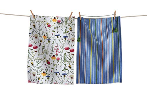 TRADE ASSOCIATE GROUP TAG, Dish Towel Set Bee Wildflower