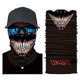 NooobTerrm Bufanda protectora sin costuras para el cuello, pañuelo, máscara facial, protección UV para motocicleta, ciclismo, montar, correr (máscara C) Un tamaño Monster B