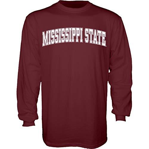 The Blue Brand Blue84 NCAA Mississippi State Bulldogs Herren-T-Shirt, langärmelig, Maroon, Größe XL