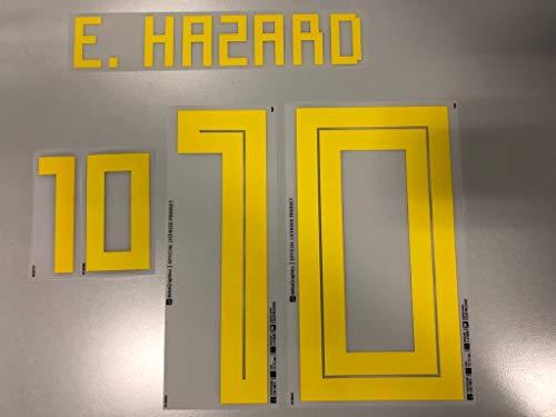 Flock Original Trikot Belgien 25cm - E. Hazard 10
