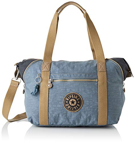 Kipling Damen Art Tote Bag, Blau (Stone Blue Block), Einheitsgröße