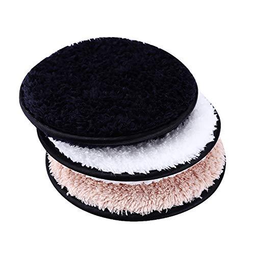 Removedor De Maquillaje De Ratón 3pcs Desmaquillante Lavable Puff Cara Limpieza Del Algodón Toallitas La Eliminación De Maquillaje Soplo De Cuidado De La Piel Maquillaje De Eliminación