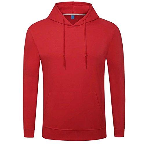 BOZEVON Homme Mode Sweat-Shirt à Capuche Manches Longues Pulls Manteau Hoodie en Tricot Couleur Unie Sweater Manteau, Blanc/Jaune/Rouge/Gris/Noir/Vert/Bleu