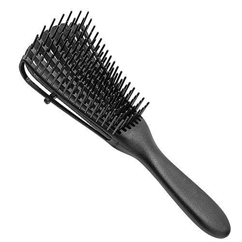 Brosse démêlante pour cheveux naturels – Démêlant pour afro cheveux 3a à 4c crépus ondulés bouclés – Utilisation sèche ou humide – Boucles faciles à nettoyer pour afro les enfants et les adultes