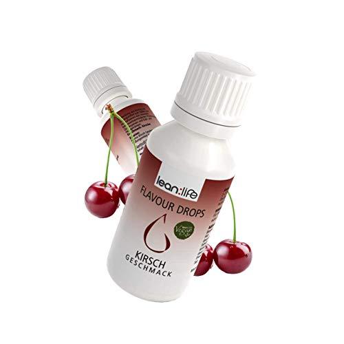 Flave Drops   Flavor Drop   Flavour Drops   VEGAN   ZUCKERFREI   KALORIENFREIE   Weight Watchers   Aroma Tropfen für Quark, Joghurt und zum backen  lean:life flavourlicious   30ml (Kirsche)