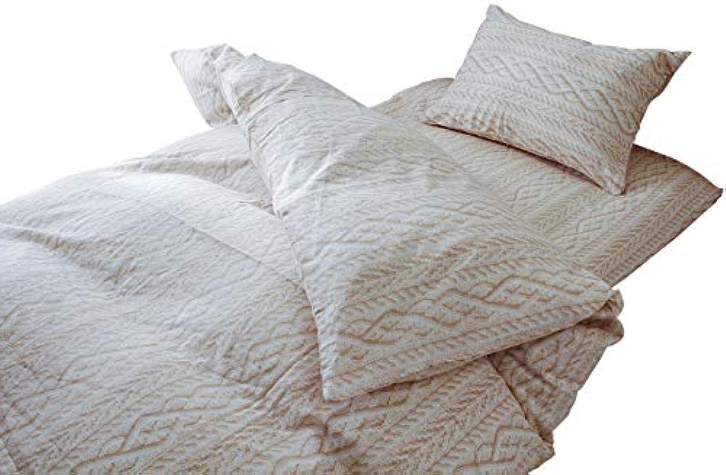 スプーン正確ないろいろ日本製 ふわふわ アラン シフォンガーゼ カバー カバーリングセット 3点セット 掛け布団カバー 敷き布団カバー 枕カバー シングルロングサイズ (ホワイト)