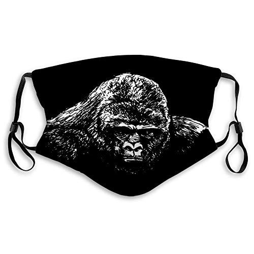 Anti-Staub Mundschutz Gorilla Kopf