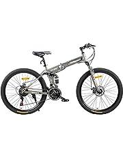 Fitness Minutes Folding Bike, Grey, FM-F26-01S-GR