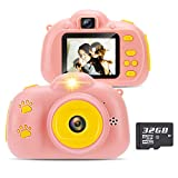 Yidarton Kids Digital Camera Video Recorder Selfie Children Cameras Screen HD Gift