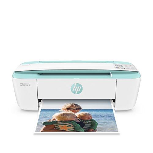 HP DeskJet 3730 Stampante Multifunzione, Instant Ink Ready, 4800 x 1200 dpi, Acqua Marina