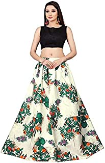 d12f59ac08 KK CREATION Women's Blackberry Velvet Semi-Stitched Lehenga Choli (Green ...
