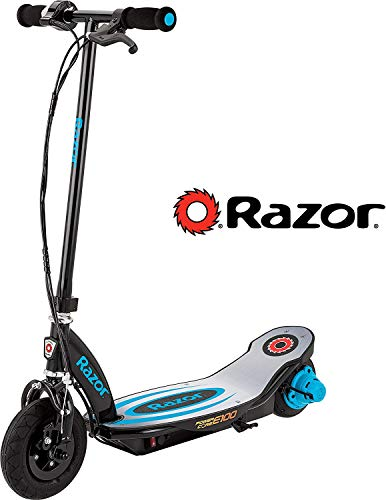 Razor Power Core E100 Electric Scooter - Black Deck - Blue
