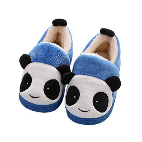 Zapatillas de Estar por Casa para Niñas Niños Invierno Zapatillas Interior Casa Caliente Pantuflas Suave Algodón Calentar Zapatilla Mujer Hombres Azul 23-24 EU (Fabricante: 16-17)