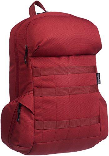 Amazon Basics - Mochila de lona para portátil de hasta 15 pulgadas (38 cm) - rojo profundo