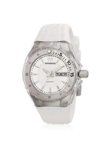 Technomarine 110038 - Reloj de Mujer de Cuarzo, Correa de Caucho Color Blanco