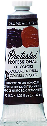 Grumbacher Pre-Tested Oil Paint, 37ml/1.25 Ounce, Transparent Red Iron Oxide (P215G)