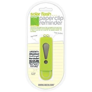 4M2U Solar Flash Paper Clip Reminder in 3 assorted colours:Animewalk