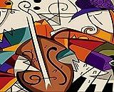 AQgyuh Puzzle 1000 Piezas Violín Abstracto Puzzle 1000 Piezas educa Gran Ocio vacacional, Juegos interactivos familiares50x75cm(20x30inch)