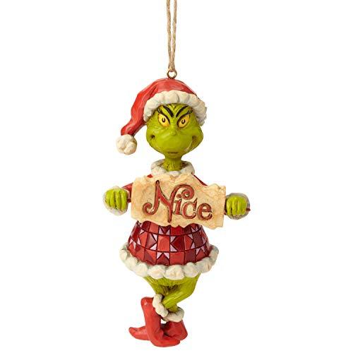 ENESCO Dr. Seuss The Grinch by Jim Shore Dekoschild zum Aufhängen, 12 cm, Mehrfarbig