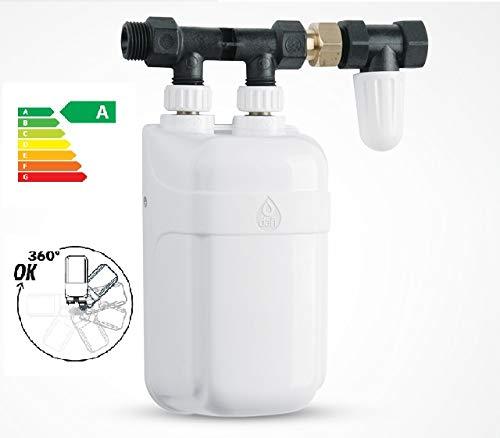 Durchlauferhitzer Dafi Untertisch 3,7 kW bis 11kW Kleindurchlauferhitzer 230/400V mit Anschlußgruppe und Absperrventil (9kW)