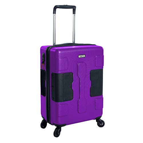 TACH V3 Hardcase Connectable Carry-on Luggage | Rolling Suitcase with Patented Built-In Connecting System | Easily Link & Carry 9 Bags At Once (purple)