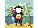Photocall Pirata 1x1,20m Infantil | Photocall Piratas | Photocall Económico y Original | Consigue Unas Divertidas Fotos con Nuestro photocall Pirata