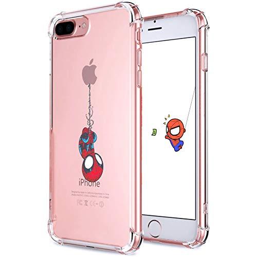 Darnew Spide Custodia per iPhone 7 Plus/8 Plus, Cartone Animato Carino Morbido TPU Freddo Divertimento Divertente Cover per Bambini Ragazze Donne Protettivo Custodia per iPhone 7 Plus/8 Plus