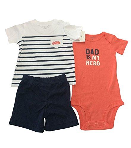Ropa de bebé 3piezas bebé niño y niñas ropa náuticas rayas camiseta,