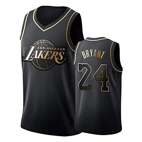 Jersey Baloncesto Kobe Bryant Nº 24 Jersey, Camiseta De Los Lakers Sudadera Camiseta del Verano Apretado Bordado Tamaño Estándar S-XXL (Color : B, Size : XXL)