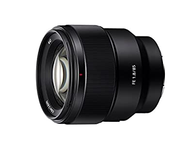 Sony SEL85F18 85mm F/1.8-22 Medium-Telephoto Fixed Prime Camera Lens, Black | Protection Filter by Sony