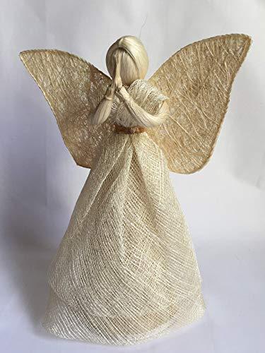 Engel Natur, mit goldfarbigem Gürtelband, H = 30 cm