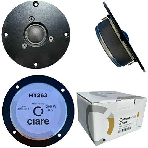 CIARE HT263 dome tweeter driver a cupola nero 100 watt rms 200 watt max da 11,00 cm 110 mm impedenza 8 ohm sensibilità 91 db per casa, 1 pezzo