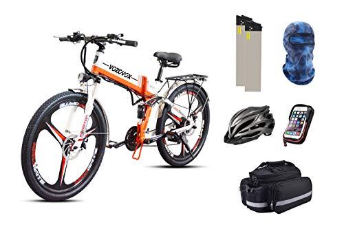 VOZCVOX Bicicleta eléctrica, 250W, con Batería Extraíble De 48V,para Adolescentes y Adultos