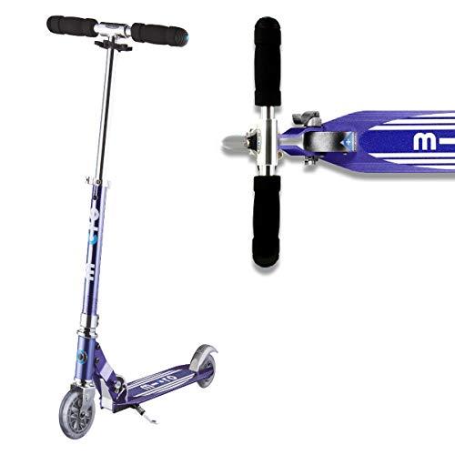 Micro Scooter Stripe Sprite Blue Boys Girls 2 Wheeled Aluminium 5 To 12 Years