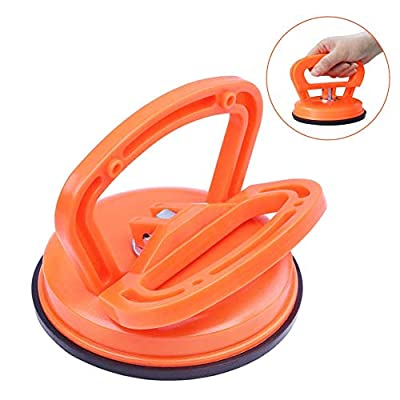 Vacuum Suction Cups for Glass Lifting with Double Handle Locking, Heavy Duty for Glass/Tiles/Mirror/Granite, Gripper Sucker Plate, 1 Pack