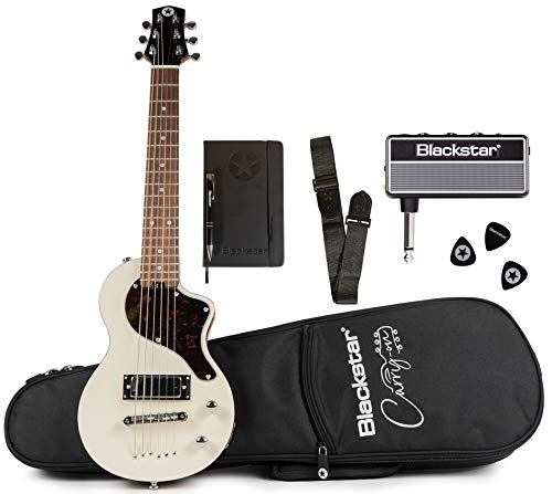 Blackstar Carry-On Standard Pack Electric Guitar with amPlug2 FLY Headphone Amplifier, Vintage White