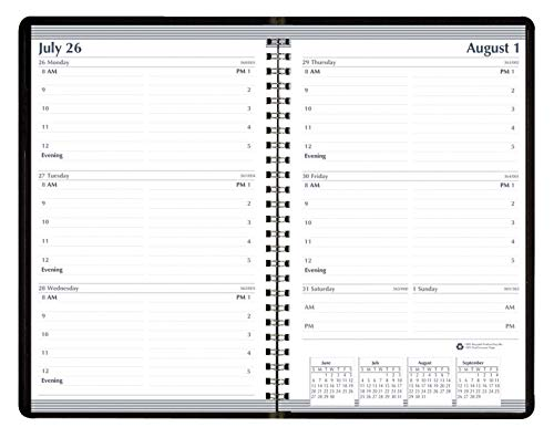 House of Doolittle 2020-2021 Weekly Planner, Academic, Black, 5 x 8 Inches, July - July (HOD27702-21) Doolittle Professional Weekly Planner