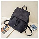 Youpin Mochilas de verano para mujer, de lona, para adolescentes y mujeres, mochila de viaje, color negro y rosa (color: negro, tamaño: 33 cm x 24 cm x 13 cm)