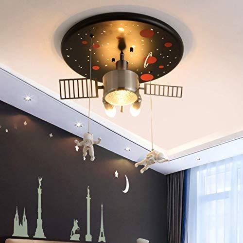 K.LSX moderne hanglamp fitting, creatief ontwerp armatuur hanglamp E27 & E14 lampen kroonluchter meisje jongen kinderkamer slaapkamer lamp Ø40 cm [energie klasse A +]