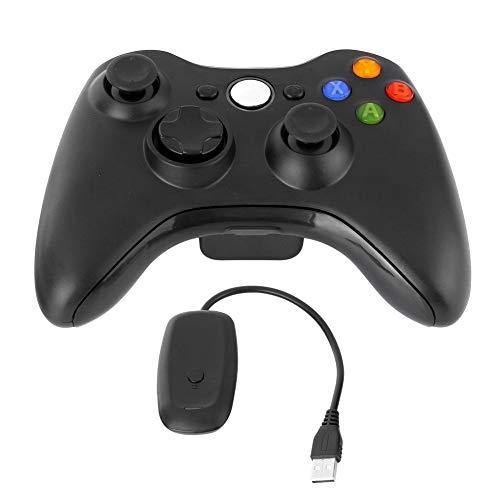 Maxjaa Xbox 360 Wireless Controller, 2.4G Wireless Controller Dual Vibration Gamepad mit Empfänger und verbessertem Joystick, Xbox 360 Game Wireless Controller für Xbox 360 Slim PC Windows 7, 8, 10