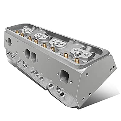 Replacement for Chevy Small Block 302/327/350/383/400 SBC 200cc Intake 68cc Straight Aluminum Bare Cylinder Head