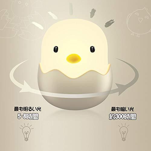 ナイトライトベッドサイドランプUSB充電Tecboss授乳ライト授乳用常夜灯タッチ式安全ABS+シリコン製無段階調光テーブルライト可愛い雰囲気作り暖かい黄色