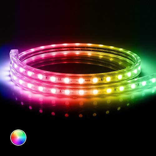 LEDKIA LIGHTING Tira LED RGB con Control Remoto IR 220V AC 60 LED/m IP65 a Medida Corte cada 100 cm