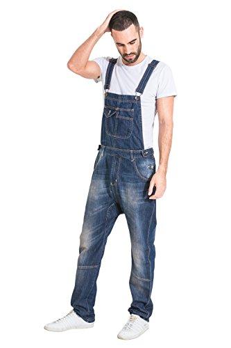 USKEES Herren Latzhosen, Relaxed Fit - Garage Wash Verschiedene Taschen DANNY1NEWDARK-36W
