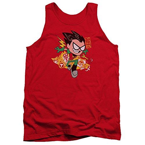 Teen Titans Go - Débardeur Robin Homme, Small, Red